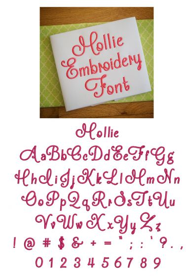 Mollie Embroidery Font Machine Embroidery Designs by JuJu
