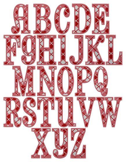 Elsie Applique Alphabet