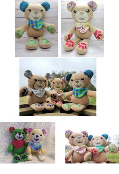 In The Hoop Cute Teddy Bear Softie Toy Machine Embroidery Designs by JuJu