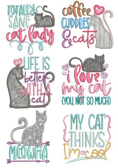 Cat Lovers Word Art 1