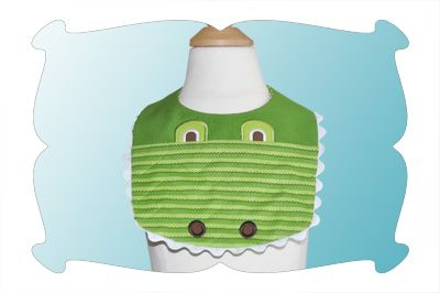 Quilted Alligator Baby Bib In The Hoop