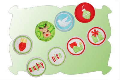 Christmas Button Covers Set 1