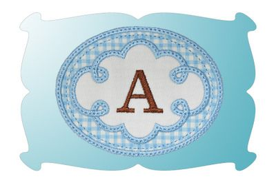 Cute Swirl Frame 1 Monogram