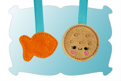 Fishy and Round Cracker Zipper Pulls In The Hoop