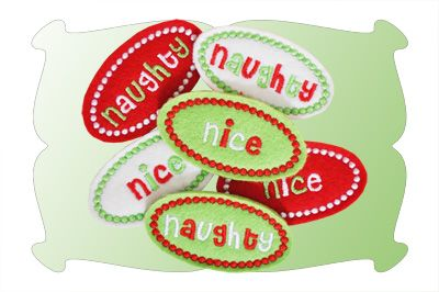 Naughty Nice and Ho Ho Ho Snap Clip Covers In The Hoop
