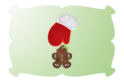 Oh No! Gingerbread Applique