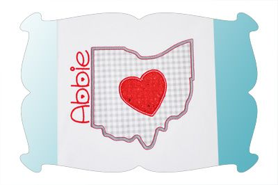 Ohio Love Applique