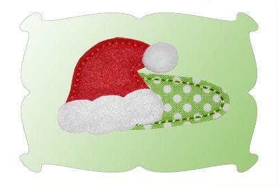 Santa Hat Snap Clip Mini In The Hoop