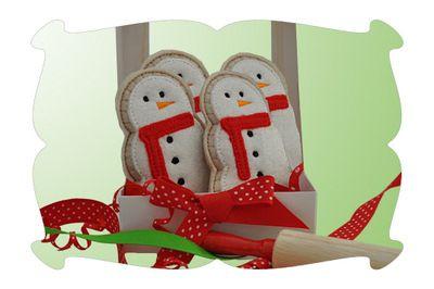 Play Food Snowman Cookies