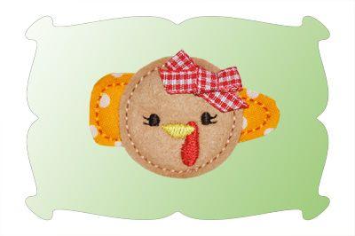 Turkey Snap Clip Mini In The Hoop