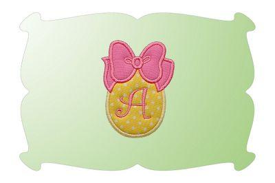 Monogrammed Easter Eggs