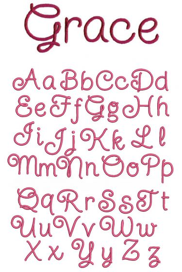 Starlight Starbright Embroidery Font
