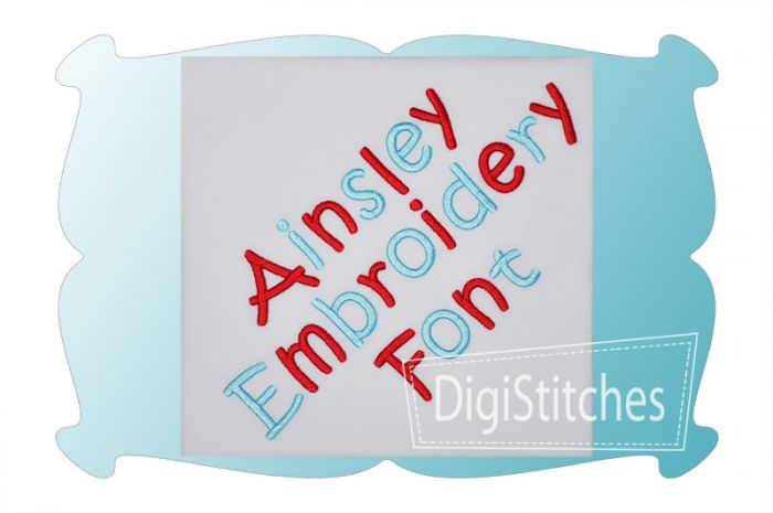 Ainsley Embroidery Font