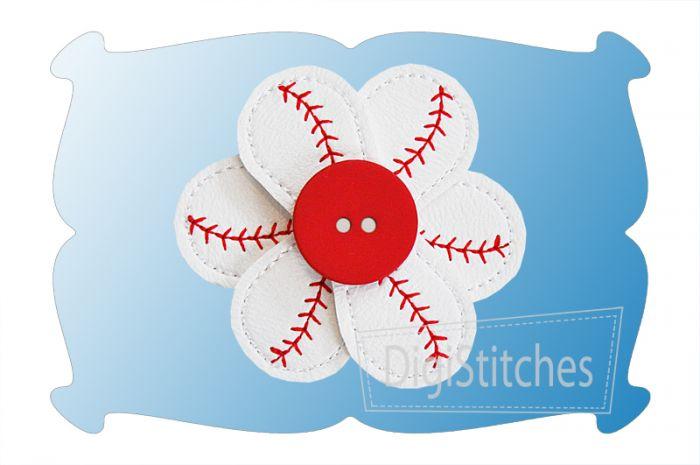 Baseball Flowers In The Hoop