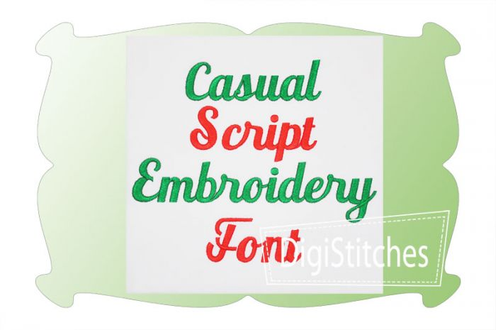 Casual Script Embroidery Font