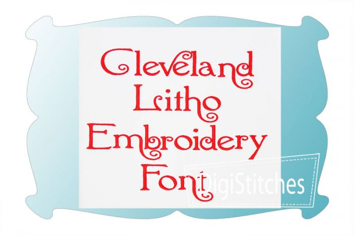 Cleveland Litho Embroidery Font