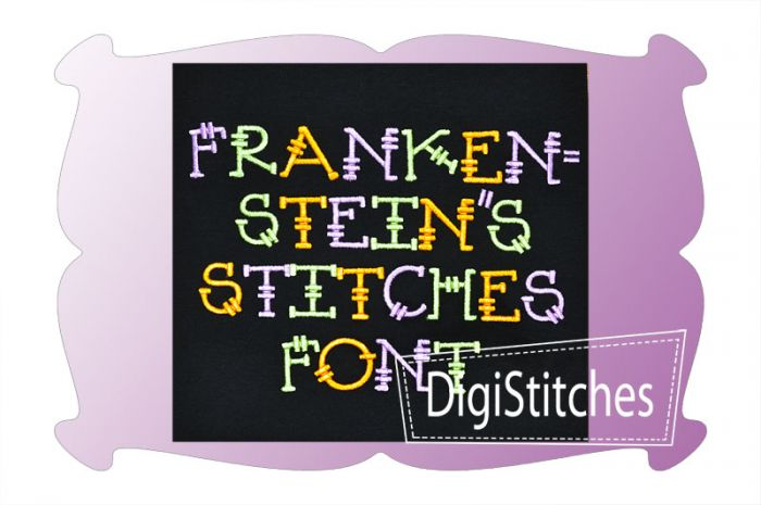 Frankenstitches Embroidery Font