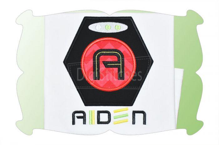 Laser Tag Target Applique Alphabet