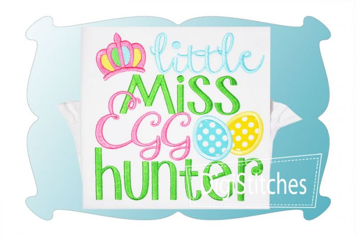 Little Miss Egg Hunter Applique