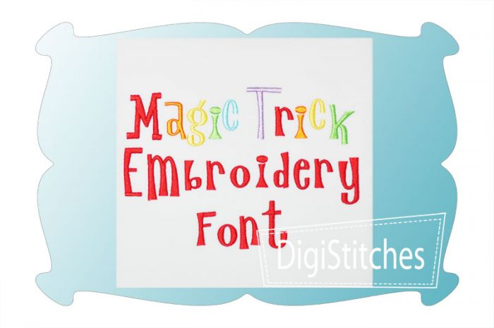 Magic Trick Embroidery Font