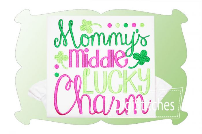 Mommys Middle Lucky Charm Girl
