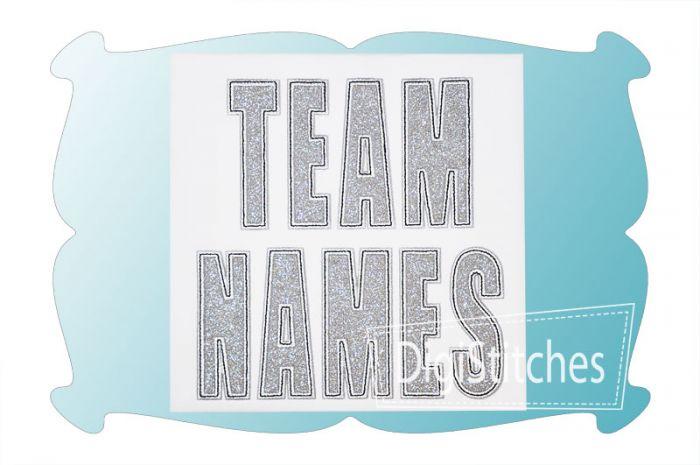 Team Names Applique Font