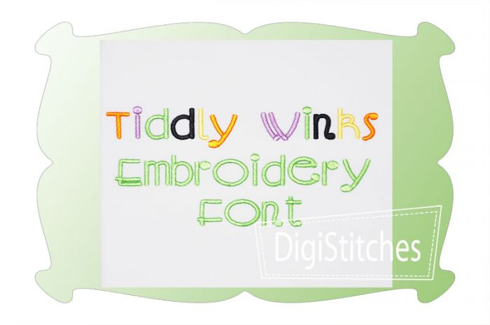 Tiddly Winks Embroidery Font