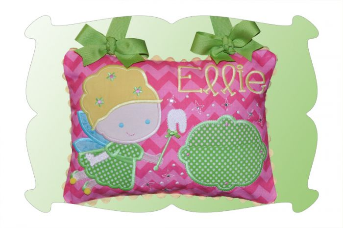 Tooth Fairy Pillow For Girls In The Hoop