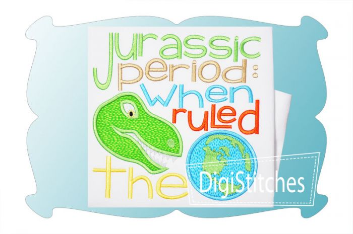 When Dinosaurs Ruled The Earth Applique