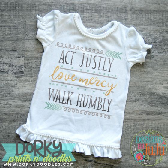 Act Justly Love Mercy Walk Humbly Digital Watercolor PNG Printable File Designs by JuJu