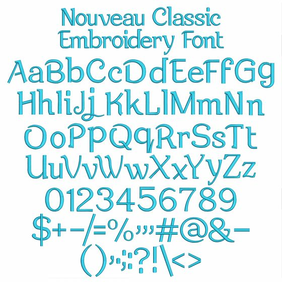 Nouveau Classic Embroidery Font Machine Embroidery Designs By JuJu