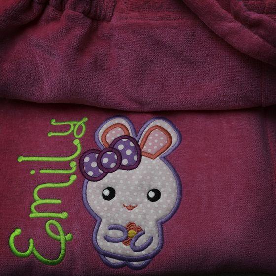 Cute Free Applique Bunny Machine Embroidery Design