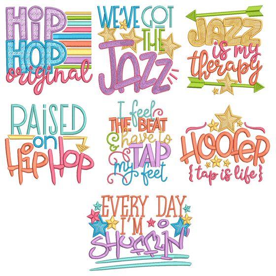 Tap Jazz Word Art 2 Machine Embroidery Designs By JuJu
