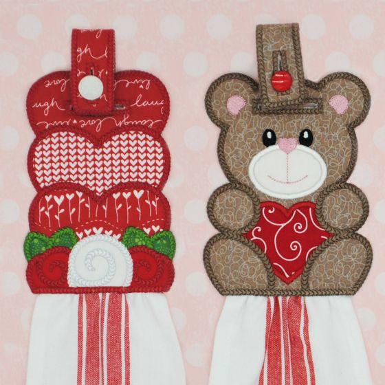 In The Hoop Valentine Towel Hangers Set 1