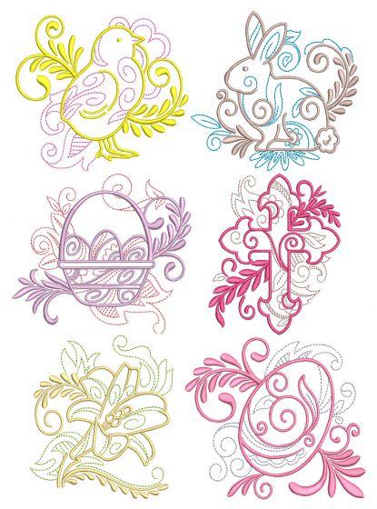 Elegant Easter Motifs 1 Machine Embroidery Designs by JuJu