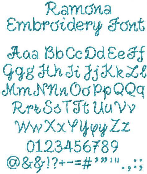 Ramona Embroidery Font
