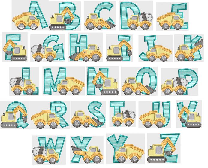 Construction Applique Alphabet