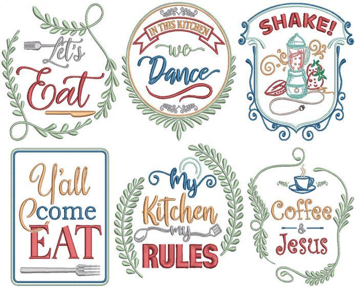 Farm Fresh Kitchen Digital Machine Embroidery Designs by JuJu