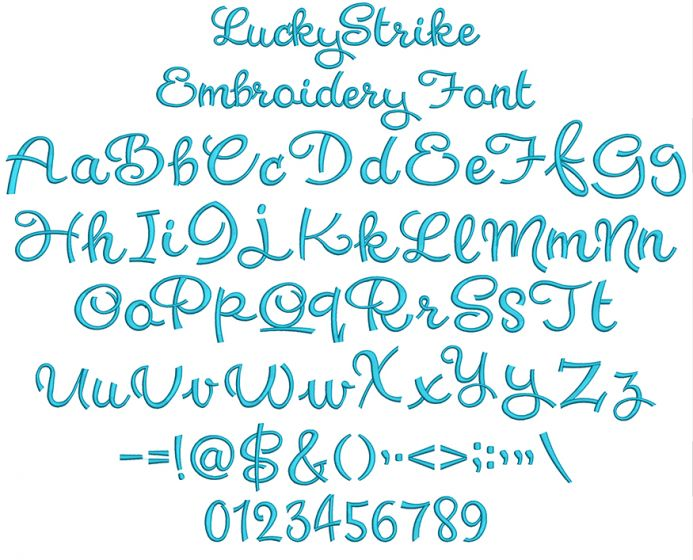 Lucky Strike Embroidery Font