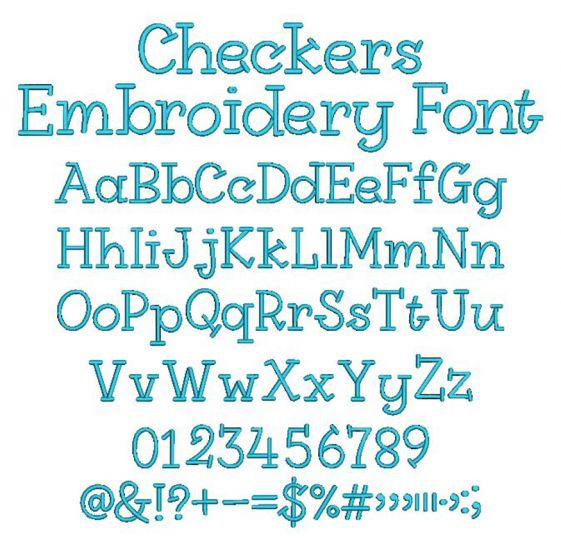 Checkers Embroidery Font