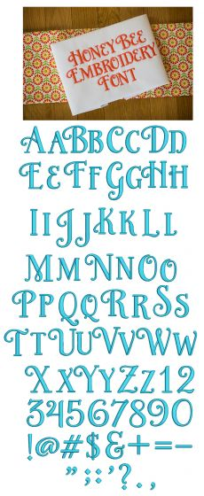 Honey Bee Embroidery Font Machine Embroidery Designs by JuJu Monograms and Alphabets