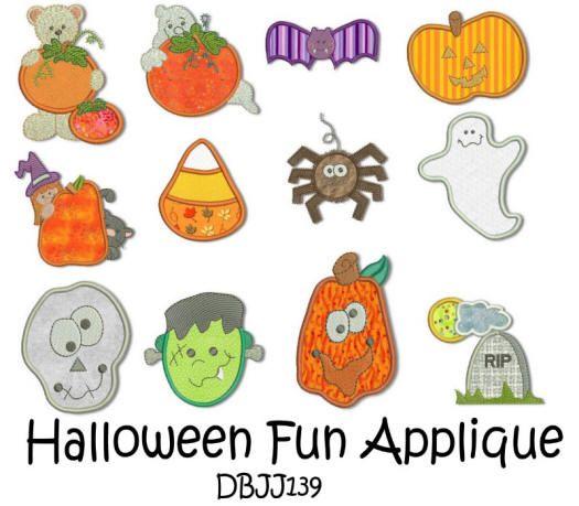 Halloween Fun Applique 4x4