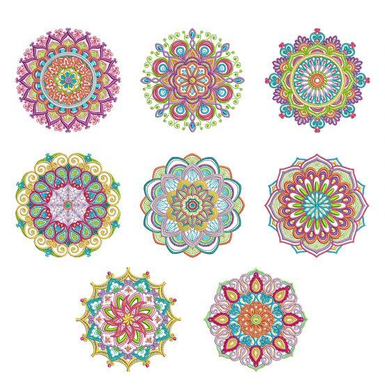 Marvelous Mandalas Set 2 Machine Embroidery Designs by JuJu