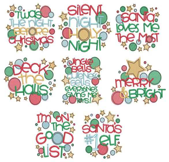 Christmas Circles Word Art