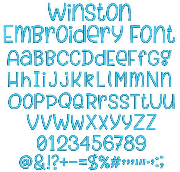 Winston Embroidery Font