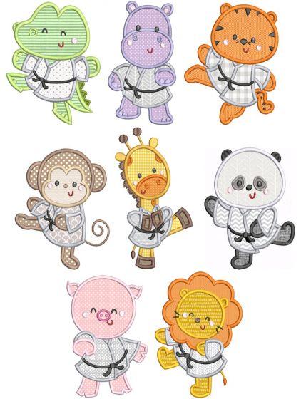 Karate Critters Applique
