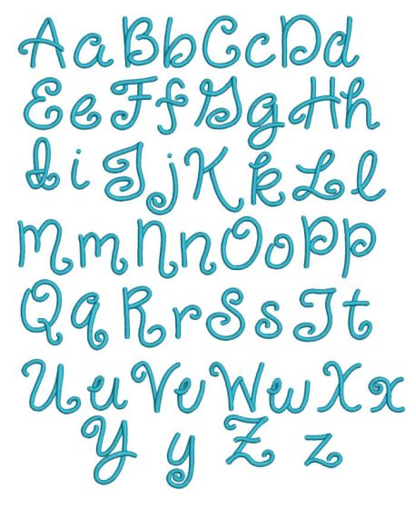 Giggles Script Embroidery Font