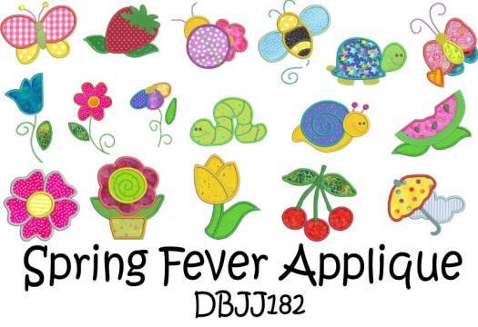 Spring Fever Applique 4x4 and 5x7
