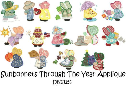 Sunbonnets Through the Year Applique