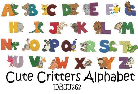 Cute Critters Alphabet